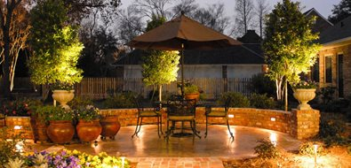 Patio Lighting, Brick Walks, Brick Wall Lighting Angelo's Lawn-Scape Of Louisiana Inc Baton Rouge, LA