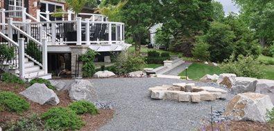 Stone Bonfire Pit Fire Pit Milieu Design Wheeling, IL