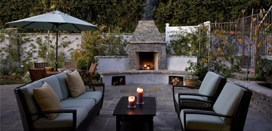 Small Backyard Fireplace Los Angeles Landscaping Stout Design Build Los Angeles, CA