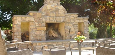 Rock Fireplace Northeast Landscaping Continental Landscaping Severn, MD