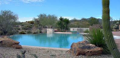 Desert Pool Texas Landscaping PlanWorx Dallas, TX