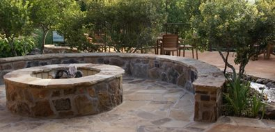 Flagstone Fire Pit Texas Landscaping Landvisions TX Tyler, TX
