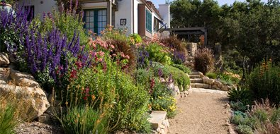 Crushed Gravel Path Asian Landscaping Grace Design Associates Santa Barbara, CA