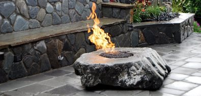 Basalt Fire Feature Seattle Landscaping Oasis Outdoor Environments Woodinville, WA