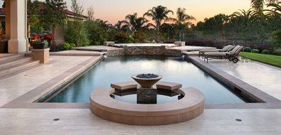 High End Pool Design Orange County Landscaping Urban Landscape Inc. Newport Beach, CA