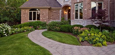 Front Yard Paver Path, Front Yard Beds Midwest Landscaping Grant & Power Landscaping West Chicago, IL