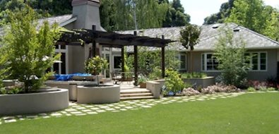 Backyard, Lawn, Installation Northern California Landscaping Aesthetic Gardens Mountain View, CA