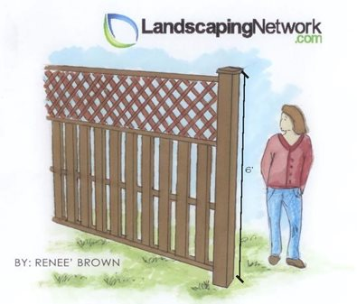 Fence Height Landscape Drawings Landscaping Network Calimesa, CA