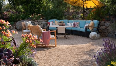 Oversized Garden Furniture Driveway Grace Design Associates Santa Barbara, CA