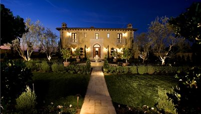 Front Yard Lighting, Landscape Lighting Garden Design Studio H Landscape Architecture Newport Beach, CA