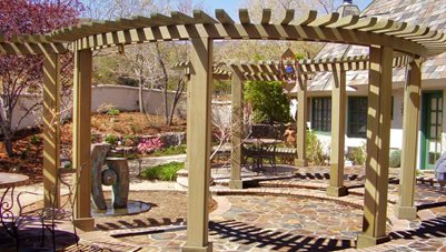 Circular Pergola, Round Pergola Pergola and Patio Cover Signature Landscapes Huntsville, AL