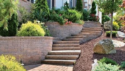 Paver Stairs, Paver Treads Retaining and Landscape Wall StoneScapes Design Hanover, MD