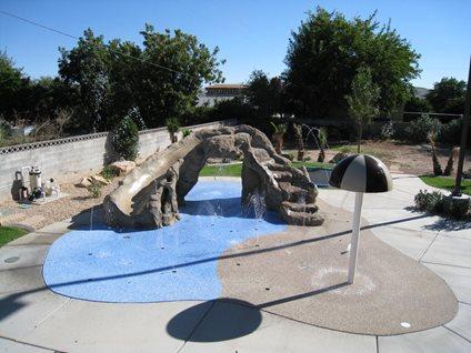 Backyard Splash Pad, Waterslide Rain Deck Mesa, AZ