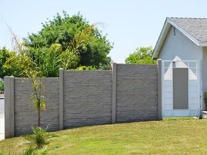 Decorative Concrete Fence Stackwall Manufacturing Pomona, CA