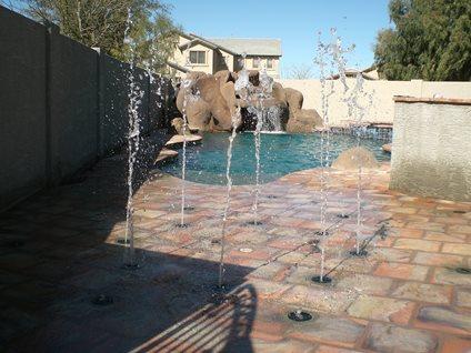 Pool Splash Pad Rain Deck Mesa, AZ