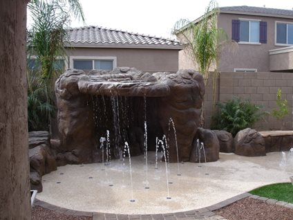 Splash Pad, Waterfall Rain Deck Mesa, AZ