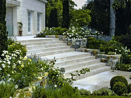 Wide Stone Steps International Garden Artisans La Verne, CA