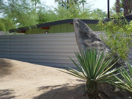 Modern Metal Fence Maureen Gilmer Morongo Valley, CA