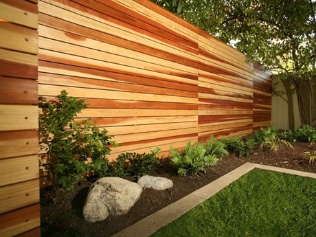 modern wood fence gates and fencing lisa cox landscape design solvang ca - Wall Fencing Designs