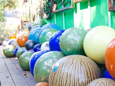 Liven up Your Yard with a Colorful Garden Orb