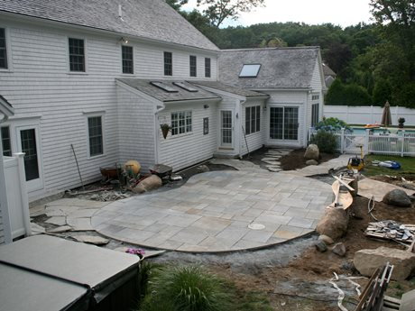bluestone patio ideas flagstone patio deck paver patios paver walls flagstone patios real stone rustic pool - Bluestone Patio Ideas