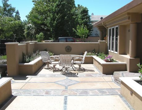 stone patio pattern