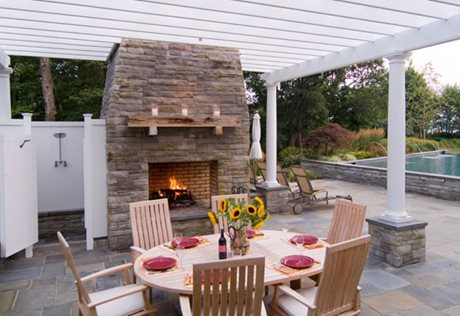shade for outdoor fireplace