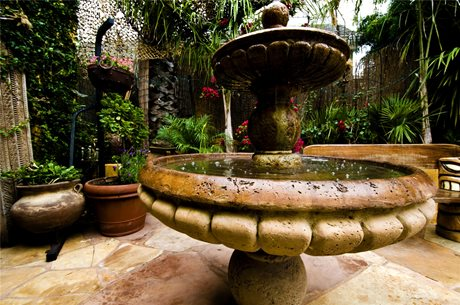 Tiered garden fountain design ideas landscaping network for Tiered pond waterfall