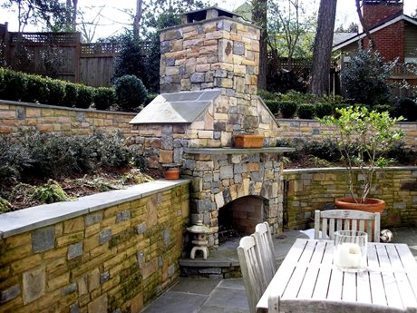 atlanta outdoor fireplace