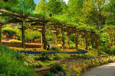 gibbs gardens, rose arbor