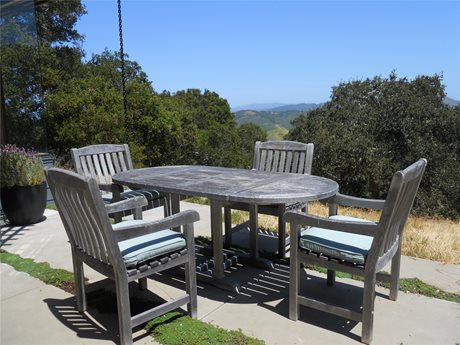 Outdoor Dining Set, Weathered Wood