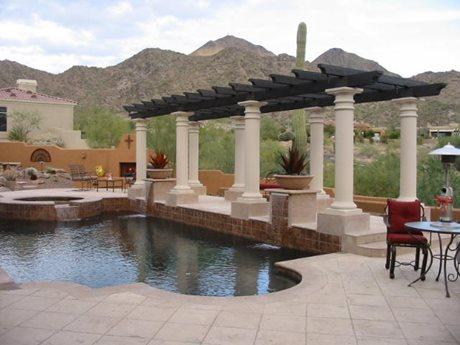 Pergola, Columns, Day JSL Landscape LLC Sedona, AZ