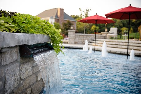 fire pedestal pool planter