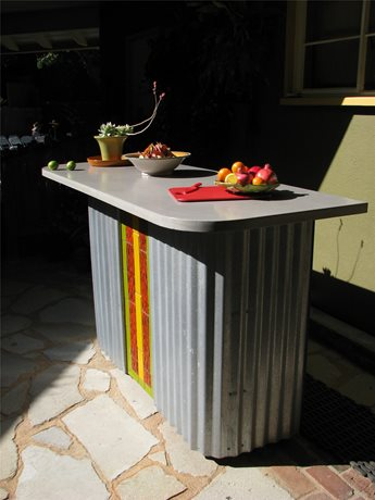 Outdoor Bar, Salvaged Metal