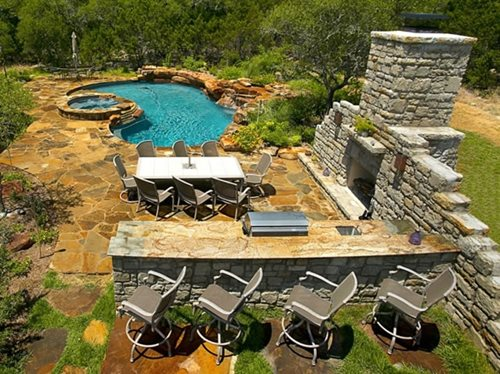 Large Backyard Pool Ideas : outdoorlivingdesignoutdoordinningroomlanddesign408jpg