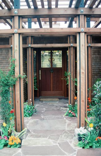 Front Entryways Off A Garage