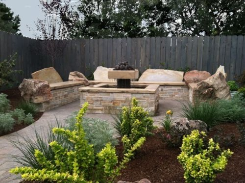 Fire Pit For Small Backyard : Small Yard at Boise Townhome  Landscaping Network