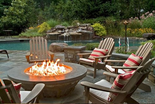 Backyard Landscaping Ideas With Fire Pit fire pit ideas 18 Backyard Fire Pit Landscaping Ideas Large And Beautiful Photos Inside Backyard With Fire Pit Landscaping Ideas Source