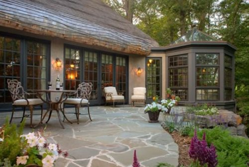 patio designs with television
