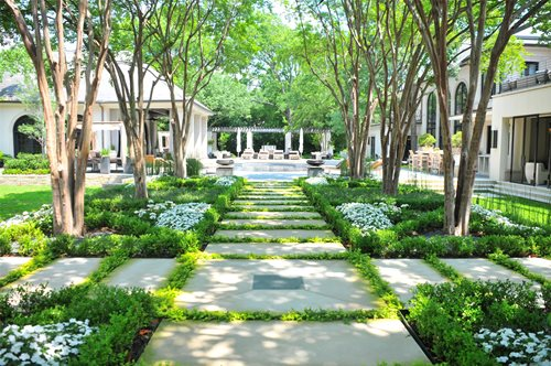 French Garden Design boxwood beauty Sisson Landscapes In Great Falls Va Lawns