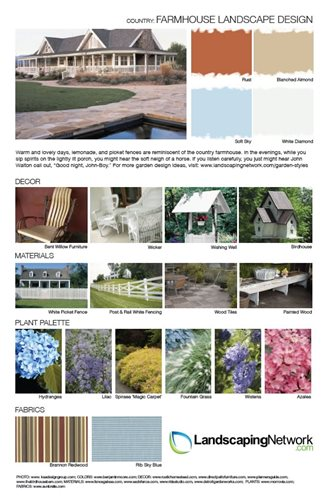 Garden style design sheets landscaping network for Landscape design sheets