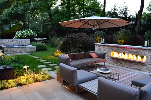 Outdoor Fireplace Cipriano Landscape Design Mahwah, NJ - Outdoor Gas Fireplaces - Landscaping Network