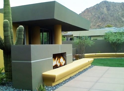 Perfect Contemporary Outdoor Fireplace Stucco 500 x 369 · 26 kB · jpeg