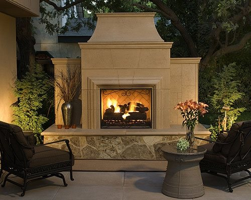 Cost of an outdoor fireplace landscaping network for Prefab outdoor fireplaces