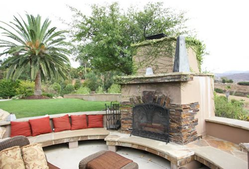 Outdoor Fireplace Seating Landscaping Network