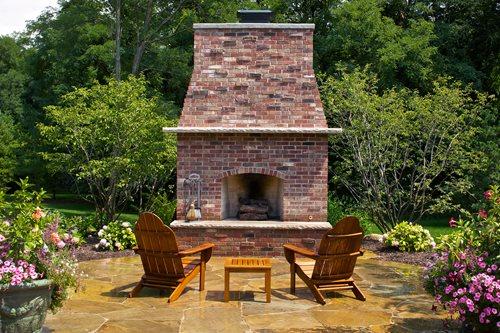 Outdoor Brick Fireplace Designs 500 x 333