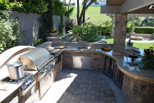 Outdoor Kitchen And Fireplace Cost Html Car Design Today