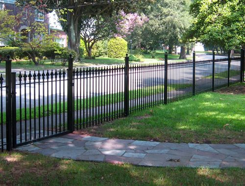 Backyard Fence Designs : wrought iron fencing another popular fencing style for front yards