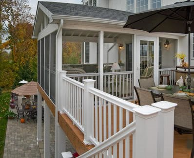 Porch cost landscaping network for Second story deck cost