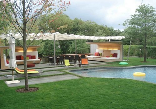 Large yard landscaping ideas landscaping network for Modern backyard ideas